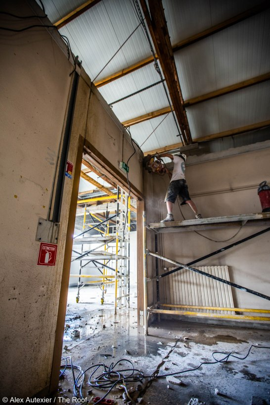 Photo Alex Autexier chantier The Roof Poitiers